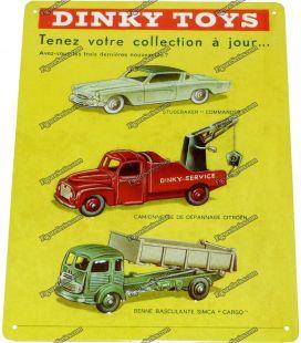 Placa de metal de carros de brinquedos DINKY STUDEBAKER