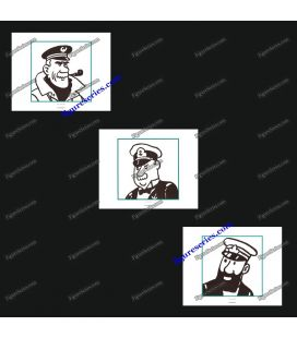 Triptych of 3 ex libris TINTIN commanders browsers