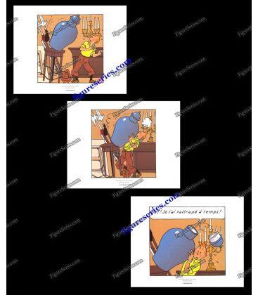 Triptyque de 3 ex libris TINTIN le Secret de la Licorne