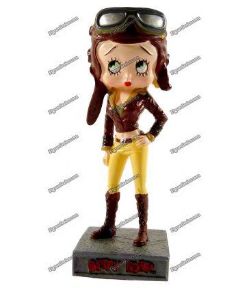 Figurine en resine BETTY BOOP aviatrice