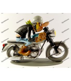 Figurine resin TRIUMPH 650 BONNEVILLE 1961 Joe Bar Team