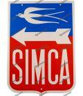 Placa de metal de folha logotipo automóvel SIMCA francesa