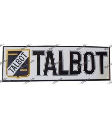 Plaque TALBOT en metal