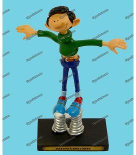 Figurine en résine GASTON LAGAFFE les patins à ressorts