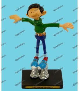Resin GASTON LAGAFFE figure skates springs