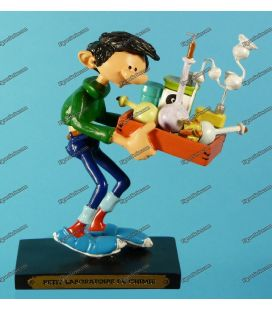Figurine resin GASTON LAGAFFE and its laboratory of chemistry Plastoy
