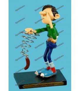 Figurine en résine GASTON LAGAFFE le ressort à boudin Plastoy