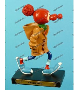 Figurine resin GASTON LAGAFFE and its nose Plastoy cache