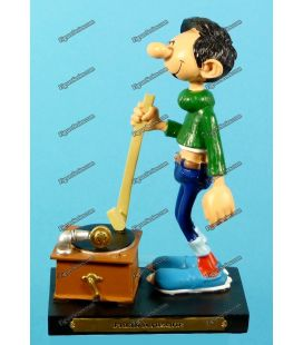 Figurine resin GASTON LAGAFFE and the brake disc Plastoy