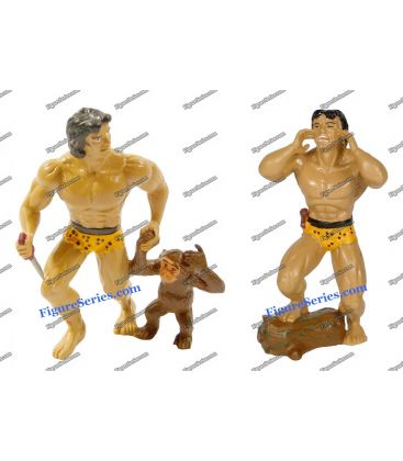 Veel beeldjes TARZAN & CHEETAH monkey figuur DISJORSA