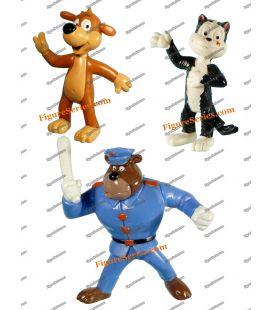 Lot 3 figurines PIF HERCULE et l agent FARFOUILLE par YOLANDA