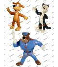 Lot 3 figurines PIF HERCULES and l agent FUMBLES by YOLANDA