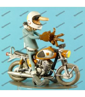 Moto en résine figurine Joe Bar Team SUZUKI T500 1968