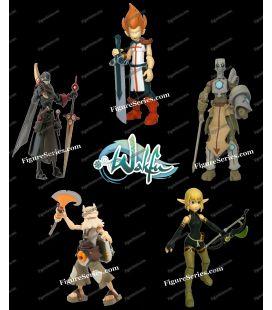 lot 5 figurines articulées WAKFU DOFUS Ankama