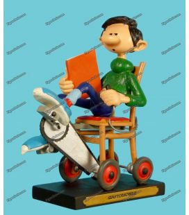 GASTON LAGAFFE resin figure of the GASTOMOBILE