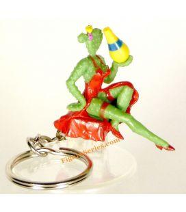 porte clés ORANGINA figurine pin'up CACTUS pub