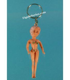 Deur sleutel PIN UP van de vrouw van de jaren 1950 figuur in zwembroek