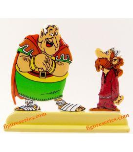 Estatueta centurião CAIUS BONUS e Calígula Asterix o gaulês