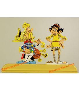 Statuetta di CACOFONIX Bard e ANGLAIGUS Asterix