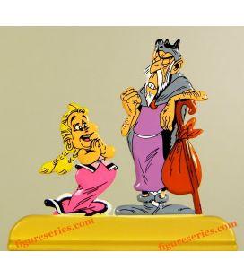 Figurine BONEMINE et le DEVIN Asterix