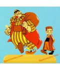 Figurine OBELIX et un BEDOUIN NOMADE l'odyssée d'Asterix
