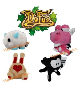 DOFUS PETS lot 4 stuffed animals Wakfu