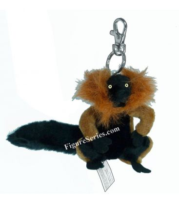 Porte-clés NATIONAL GEOGRAPHIC peluche lemur VARI ROUX