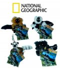 Lot 4 porte-clés NATIONAL GEOGRAPHIC peluche lemurien