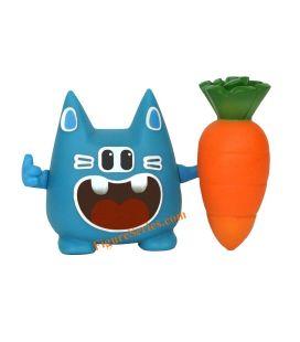 Blaue Figur feiern und seiner Karotte WAKFU DOFUS