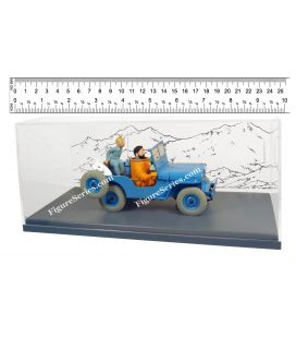 TINTIN la JEEP WILLYS blue Objectif Lune