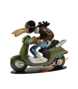 PEUGEOT 50 SV scooter Joe Bar Team figurine résine