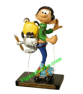 GASTON LAGAFFE figure with motor propeller for skater