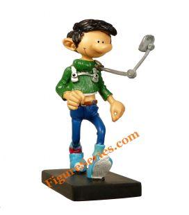 Figurine GASTON LAGAFFE le rétroviseur à pietons