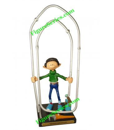 Figurine GASTON LAGAFFE le trombone géant