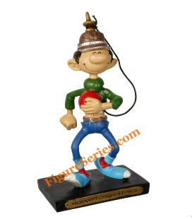 Figurine GASTON LAGAFFE avec son bilboquet