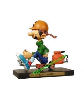 Figura de Gaston LAGAFFE y kart de oficina