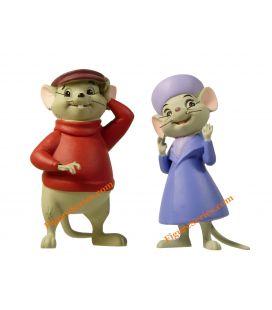 BERNARD et BIANCA figurines en résine The RESCUERS