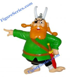 Large resin figure BARBE ROUGE pirate ASTERIX