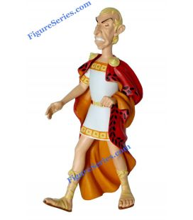 Resina de estatueta de Julius Caesar imperador romano de ASTERIX