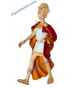 Resina estatuilla de Julius Caesar emperador romano de ASTÉRIX