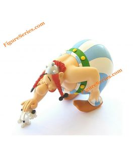 Figurine resin idefix collection asterix and obelix