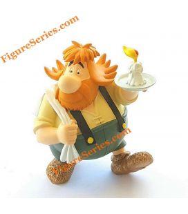 Petisuix estatueta de sêmuito de resina do estadeiro suíço Asterix