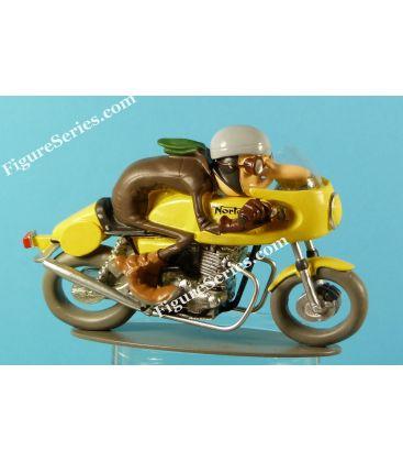 Figurine do moto Joe Bar equipe NORTON produção Racer