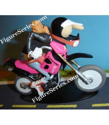 KAWASAKI KLX 650 motorfiets trail beeldje hars Joe Bar Team