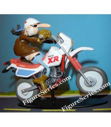 Estatueta de motocicleta de enduro HONDA XR 600 resina Joe Bar equipe