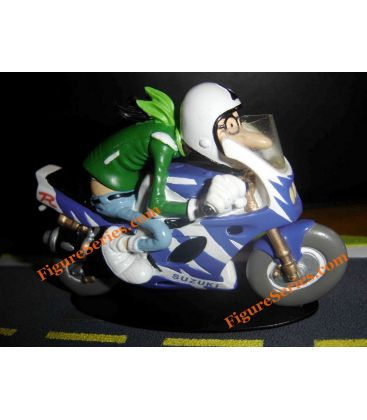SUZUKI 750 GSX R W resin Joe Bar Team cable motorcycle figure