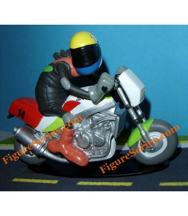 KAWASAKI 750 ZXR Stinger motorcycle figurine resin Joe Bar Team
