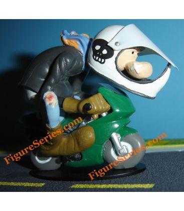 POCKET BIKE moped figurine resin Joe Bar Team